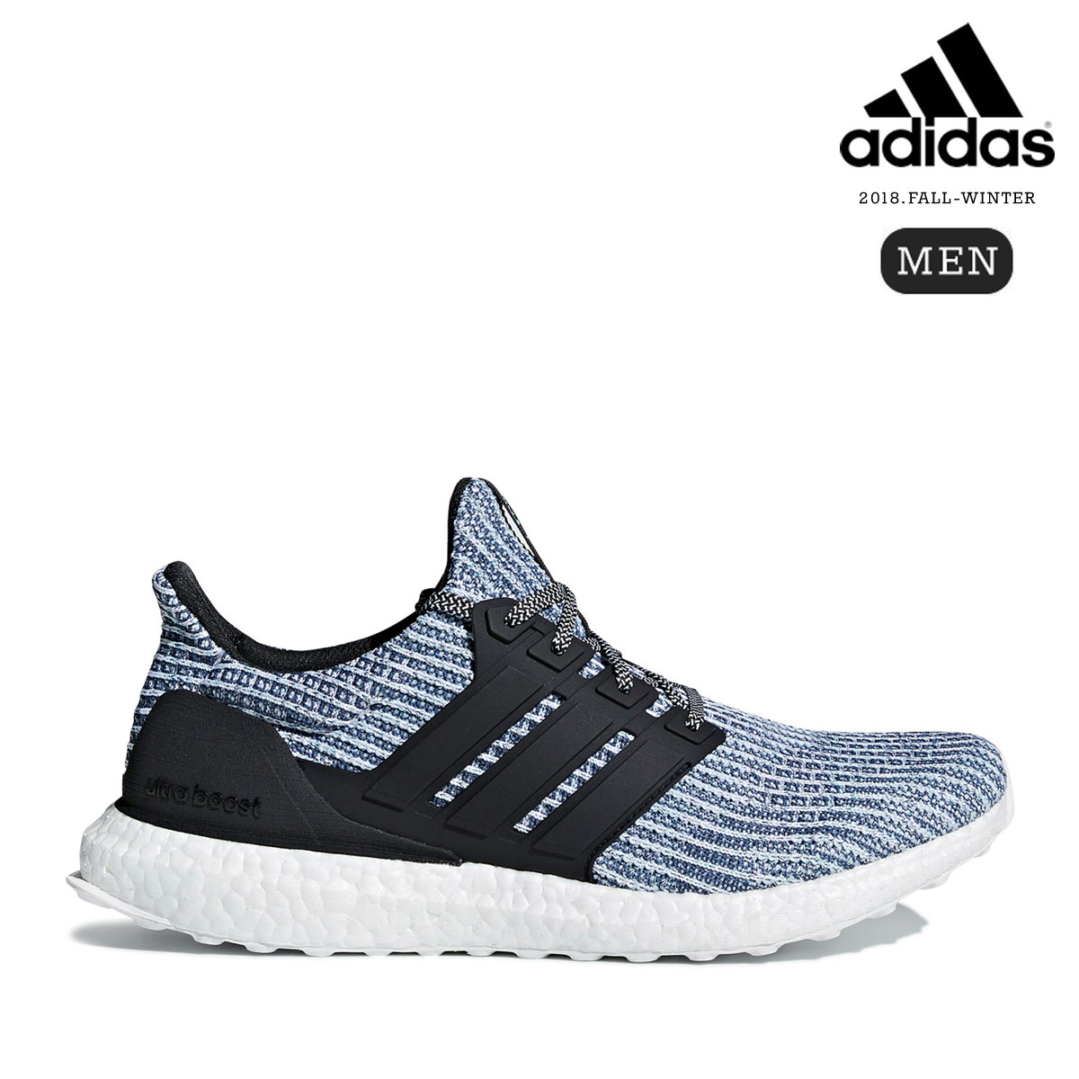 adidas UltraBOOST Parley (Running White/Carbon/Blue Spirit) 【メンズサイズ】【18FW-I】