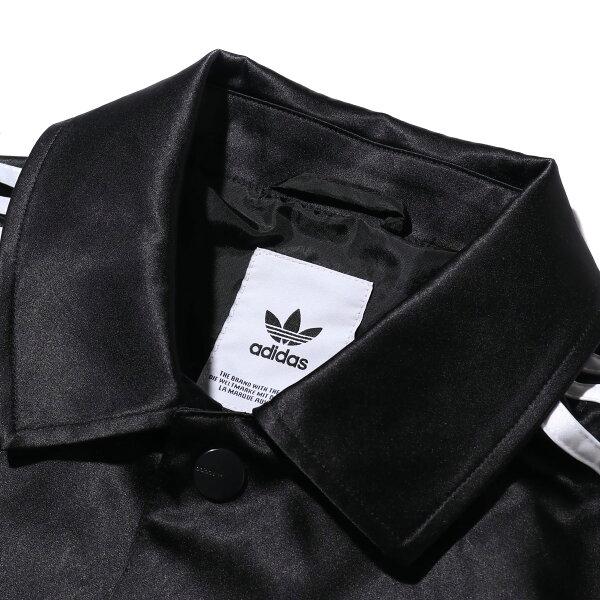 adidasSATINCOACHJACKET(BLACK)(アディダスサテンコーチジャケット)【メンズ】【ジャケット】【19FW-S】