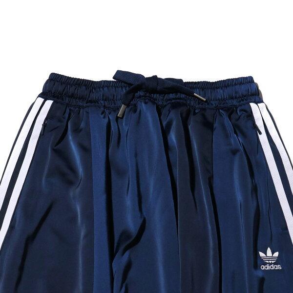 adidasLONGSATINSKIRT(COLLEAGENAVY)(アディダスロングサテンスカート)【レディーズ】【スカート】【19SS-I】