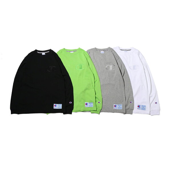 ChampionLONGSLEEVET-SHIRT(オックスフォードグレー)(チャンピオンロングスリーブティーシャツ)【メンズ】【長袖Tシャツ】【19FA-I】