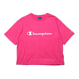 Champion T-SHIRT (チャンピオン ティーシャツ)ラズベリー【レディース】【半袖Tシャツ】【19SP-I】