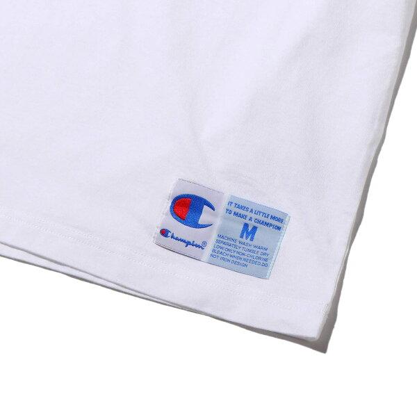 ChampionT-SHIRTS(ホワイト)(チャンピオンティーシャツ)【メンズ】【半袖Tシャツ】【19FA-I】