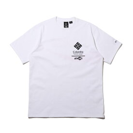 COCA-COLA x Columbia x ATMOS LAB CSC BASIC LOGO TXT SHORT SLEEVE T-SHIRT(WHITE, INTENSE RED)(コカコーラ コロンビア アトモスラボ ベーシック ロゴ ショート スリーブ ティーシャツ)【メンズ】【半袖Tシャツ】【20SP-S】