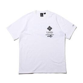 COCA-COLA x Columbia x ATMOS LAB CSC BASIC LOGO TXT SHORT SLEEVE T-SHIRT(WHITE, AZUL)(コカコーラ コロンビア アトモスラボ ベーシック ロゴ ショート スリーブ ティーシャツ)【メンズ】【半袖Tシャツ】【20SP-S】