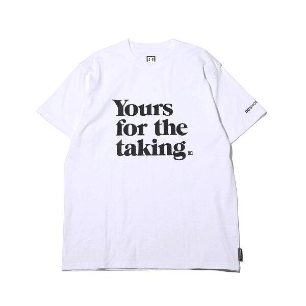 DCSHOES19YOURSFORTHETAKINGSS(WHITE)(ディーシーシューズ19ユアーズフォーザテイキングショートスリーブ)【メンズ】【半袖Tシャツ】【19SS-I】