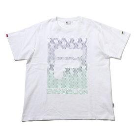 FILA x EVANGELION LONGINUS T SHIRT(WHITE)(フィラ ヱヴァンゲリヲン ロンギヌス ティーシャツ)【メンズ】【レディース】【半袖Tシャツ】【21SS-I】