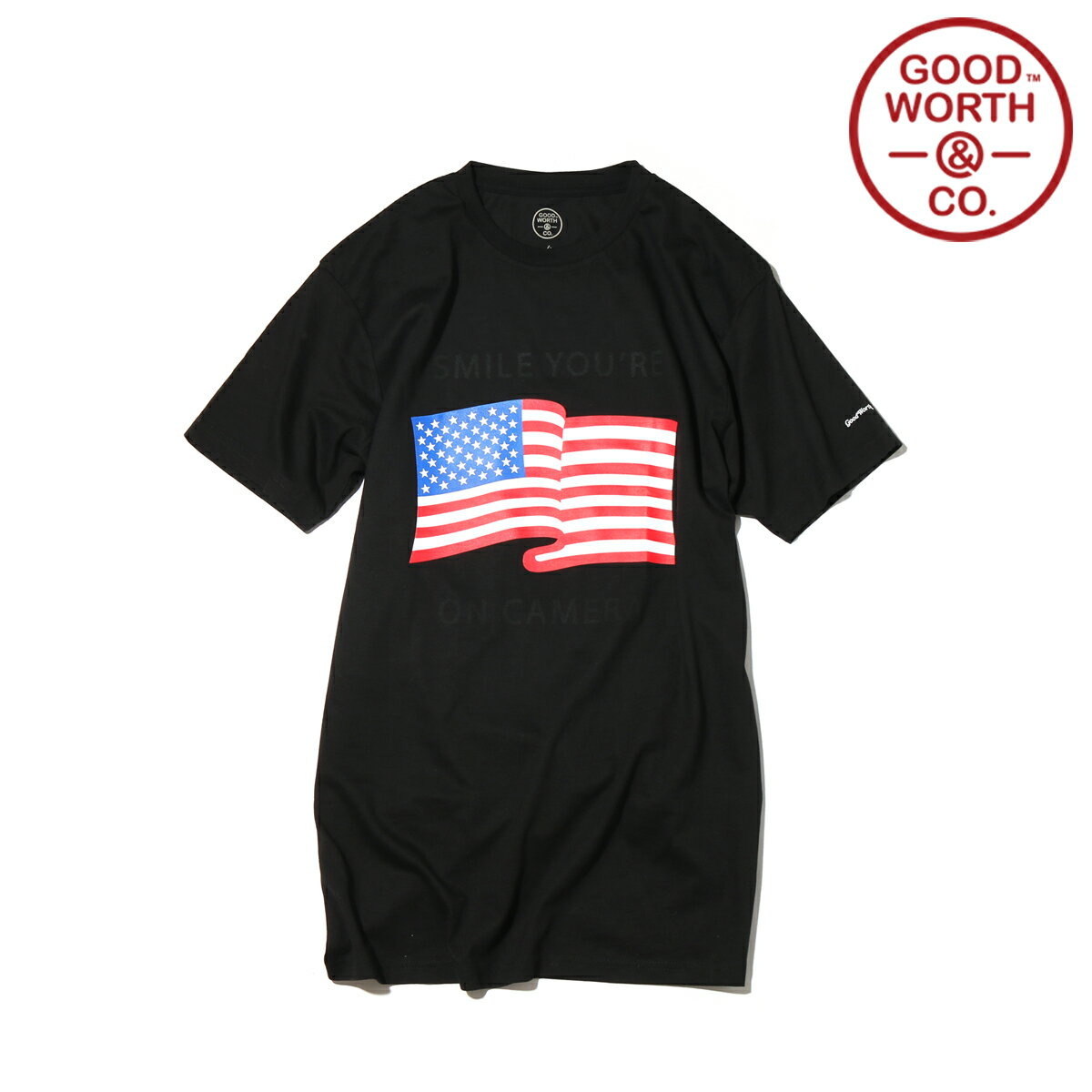 GOOD WORTH & CO. YOU'RE ON CAMERA T-SHIRT (3色展開) 【メンズサイズ】【17SP-I】【50】【sale0123】