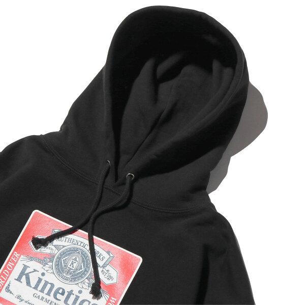 KineticsClassicLabelHoody(BLACK)(キネティクスクラシックラベルフーディー)【メンズ】【パーカー】【19SS-I】