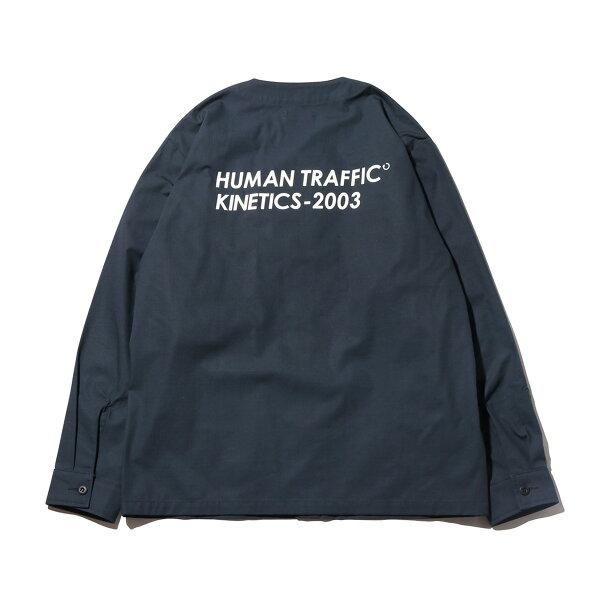 KineticsRipstopCardiganLSShirt(CHARCOAL)(キネティクスリップストップカーディガンLSシャツ)【メンズ】【ノーカラー】【シャツ】【19SS-I】