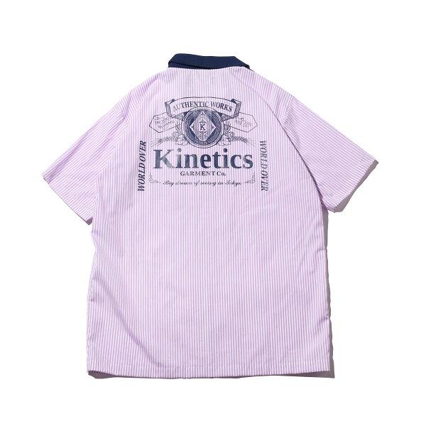 KineticsClassicLabelStripeSSShirt(PURPLE)(キネティクスクラシックラベルストライプSSシャツ)【メンズ】【シャツ】【19SS-I】
