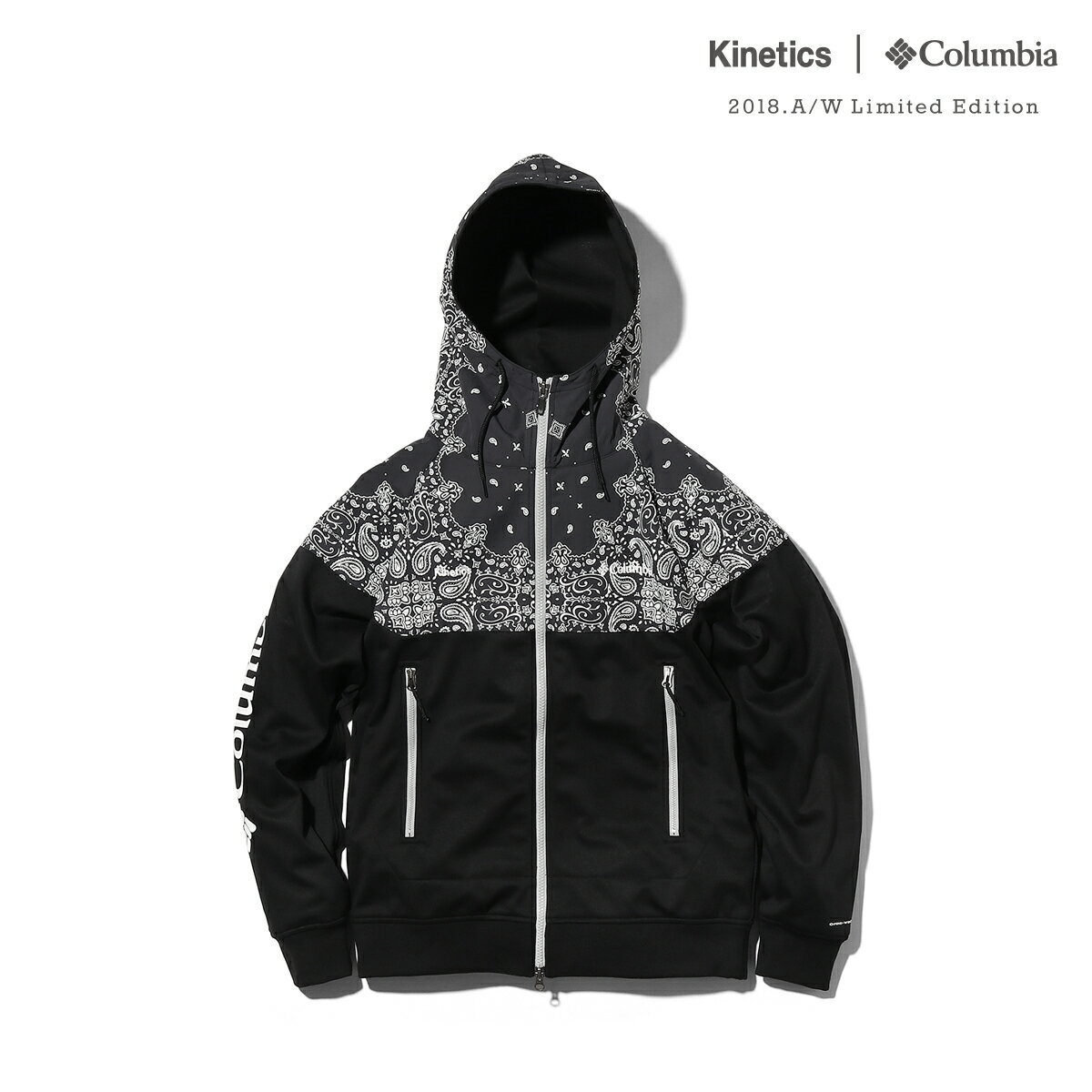 Kinetics × Columbia Red Table Pines Hoodie (012/BLACK PAISLEY PRINT) 【OMNI-SHIELD】【OMNI-WIND BLOCK】【18AW-S】