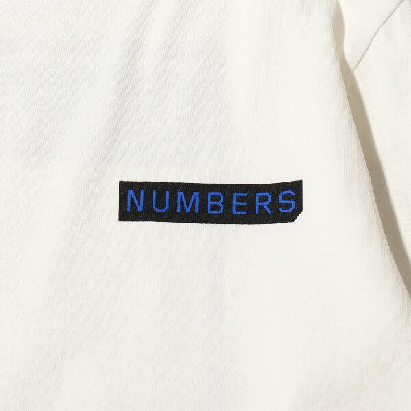 NUMBERSLOGOTYPE-L/ST-SHIRT(WHITE)(ナンバーズエディションロゴタイプロングスリーブティー)【メンズ】【長袖Tシャツ】【19SS-I】