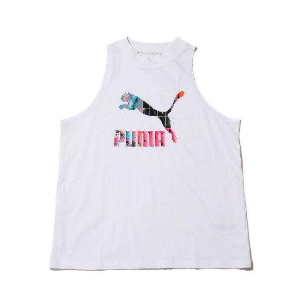 PUMACLASHAOPTANKTOP(PUMAWHITE)(プーマクラッシュAOPタンクトップ)【レディース】【半袖Tシャツ】【19SP-I】