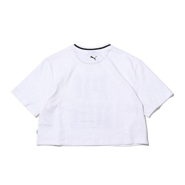 PUMAREBELRELOADCROPPEDTEE(PUMAWHITE)(プーマレブルリロードクロップドティーシャツ)【レディース】【半袖Tシャツ】【19SP-I】