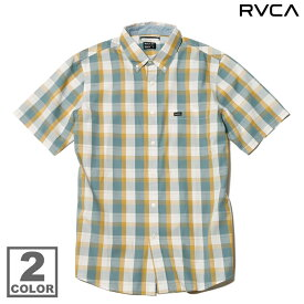 RVCA MINGUS S/S SHIRT (2色展開)(ルーカ ミンガス ショートスリーブ シャツ)【Kinetics】【チェック】【CHECK】【半袖】【カジュアルシャツ】【ストリート】【サーフ】【スケート】13SS-I【50】【sale0123】