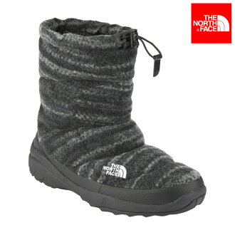 THE NORTH FACE NUPTSE BOOTIE WP WOOL LUXE (BW / Black wool mix) (the north face nupsiboo tea waterproof wool Lux)