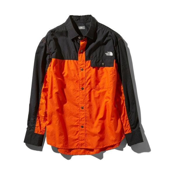 THENORTHFACEL/SNUPTSESHIRT(ペルシャオレンジ)(ザ・ノース・フェイスロングスリーブヌプシシャツ)【メンズ】【Tシャツ】【19SS-I】