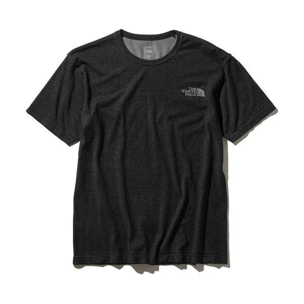 THENORTHFACES/SSQUARELOGOJACQURDTEE(ブラック)(ザ・ノース・フェイスショートスリーブスクエアロゴジャカードティー)【メンズ】【Tシャツ】【19SS-I】