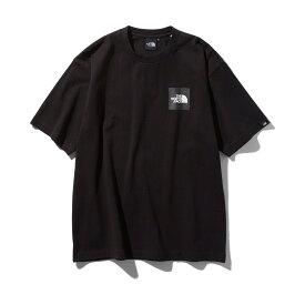 THE NORTH FACE S/S SQUARE LOGO TEE(ブラック)(ザ・ノース・フェイス S/S スクエアロゴ ティー)【メンズ】【Tシャツ】【19FW-I】