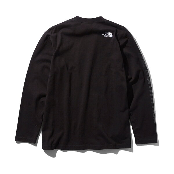 THENORTHFACEL/SSQUARELOGOTEE(ブラック)(ザ・ノース・フェイスL/Sスクエアロゴティー)【メンズ】【長袖Tシャツ】【19FW-I】