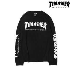 THRASHER MAG SLEEVE L/S TEE(3色展開)(スラッシャー マグスリーブ ロングスリーブ TEE)【メンズ】【長袖】【18SP-I】