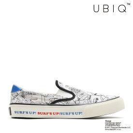 UBIQ HOGGE PEANUTS_SURF(WHITE)(ユービック ホッジ ピーナッツ サーフ)【メンズ】【レディース】【スニーカー】【17FA-I】