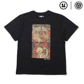 UBIQ IREZUMI T-SHIRT (Youkai) Designed by Ganji(BLACK)(ユービック イレズミ ティシャツ (ヨウカイ) デザインド バイ ガンジー)【メンズ】【Tシャツ】【18SU-I】