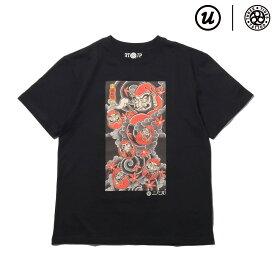 UBIQ IREZUMI T-SHIRT (Daruma) Designed by Mutsuo(BLACK)(ユービック イレズミ ティシャツ (ダルマ) デザインド バイ ムツオ)【メンズ】【Tシャツ】【18SU-I】