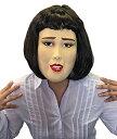 在庫あり!!【メール便送料無料】半面マスク キャリアウーマン マスク ブルゾン 仮装 変身 ものまね コスプレ