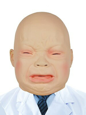 在庫あり!!【メール便送料無料】変身マスク 赤ちゃんマスク マスク 赤ちゃん 仮装 変身 ものまね コスプレ