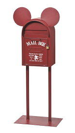 【クーポン最大600円OFF!】【送料無料】スタンドポスト ヴィンテージミッキー レッド 郵便受け アメリカン ヴィンテージ ポスト ディズニー ※キャンセル不可商品です