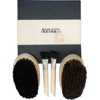 浅草アートブラシ靴のお手入れブラシ『浅草の靴職人』靴ブラシ2個+丸柄ブラシ2本