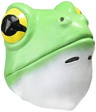 ハロウィン あす楽!!【送料490円】アニマルマスク かえる 蛙のマスク 被り物 コスプレ 生き物マスク