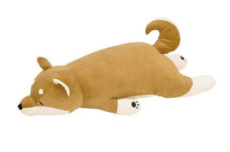 あす楽!!【送料無料】プレミアムねむねむ 抱きまくらL コタロウ 48768-44 ねむねむ 抱き枕 ベージュ ねむねむ アニマルズ 柴犬 犬 いぬ