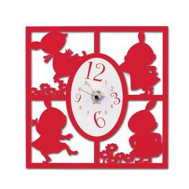 【クーポン最大600円OFF!】あす楽!!【送料無料】【ムーミン】シルエット 時計 リトルミイ時計(たくさん) KC5017 シルエット時計 リトルミイ