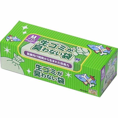 クリロン化成 BOS生ゴミが臭わない袋 Mサイズ(23*38cm) 箱型90枚入/3個セット(数量限定くまモン除菌ウェットティッシュ付き)