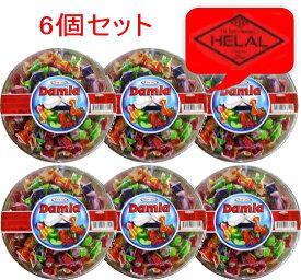 タヤス社 DAMLA(ダムラ)ソフトキャンディフルーツアソート 天然果汁でくちどけ柔らか 300g/6個セット