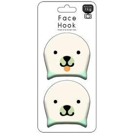 東洋ケース Face Hook-アザラシ 1個/FH-08 バラエティ雑貨 面白い 顔 フック 吸着