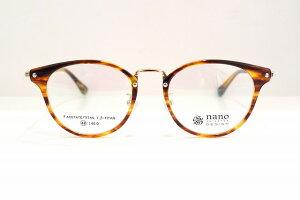 nano UNIVERSE(ナノユニバース)NU-2004 col.2メガネフレーム新品べっ甲柄めがね眼鏡サングラスボストン型クラシックブランド