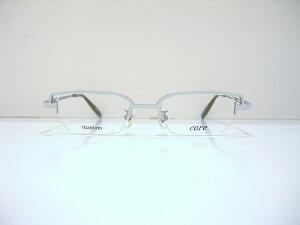 core(コア)CR-21 白ぶちメガネフレーム新品チタンレーザーめがね眼鏡鯖江