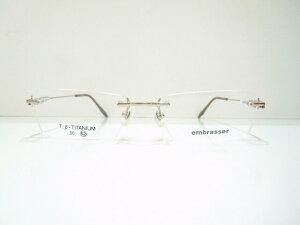 embrasser(アンブラッセ)EB-310 ふちなしメガネフレーム新品 めがね 眼鏡 サングラス ツーポイント 弾性