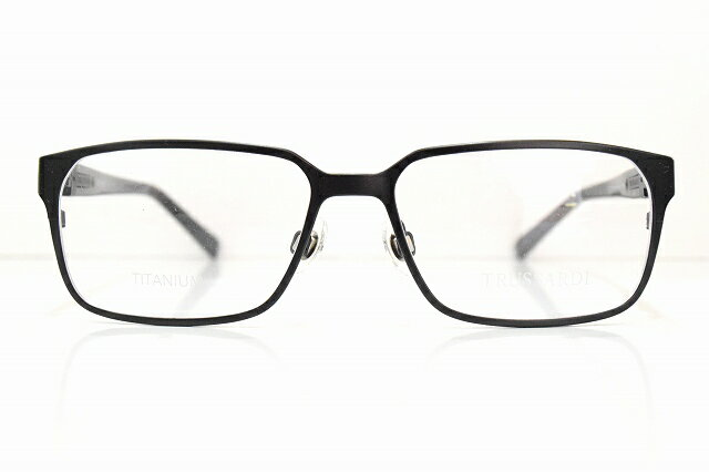 TRUSSARDI (トラサルディ)TR12736 BKメガネフレーム新品めがね 眼鏡 サングラスチタン紳士メンズスーツブランド