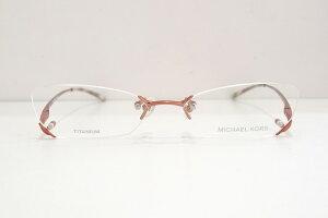 MICHAEL KORS(マイケルコース)MK18204 col.Rメガネフレーム新品めがね眼鏡サングラスふちなしバタフライメンズレディース