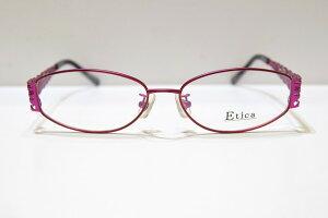 Etica EC-1010 col.2ヴィンテージメガネフレーム新品めがね眼鏡サングラスレディース婦人女性用エレガントおしゃれ