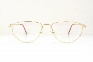 D.FOCUS 014 col.GPヴィンテージメガネフレーム新品めがね眼鏡サングラス彫金クラシック鯖江日本製メンズレディースブランド