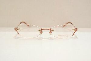 pinky wolman(ピンキーウォルマン)PW-0392 col.3Bヴィンテージメガネフレーム新品めがね眼鏡サングラスふちなし