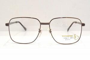 TITAMIC(チタミック)2420 IPBR K18Decメガネフレーム新品めがね眼鏡サングラス金無垢18金K18ビッグサイズメンズ紳士