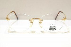 MOSCHINO(モスキーノ)MO-5763 col.GOLDヴィンテージサングラス新品めがね眼鏡サングラスレディース婦人女性用ふちなし