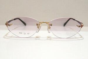 HOYA(ホヤ)EC050M GKVヴィンテージメガネフレーム新品めがね眼鏡サングラスダイヤカットふちなしレディース婦人女性用