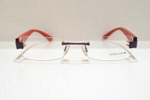 WOOD LOOK(ウッドルック)WL-019 030メガネフレーム新品めがね眼鏡サングラス天然木ふちなしメンズレディースGOLD&WOOD